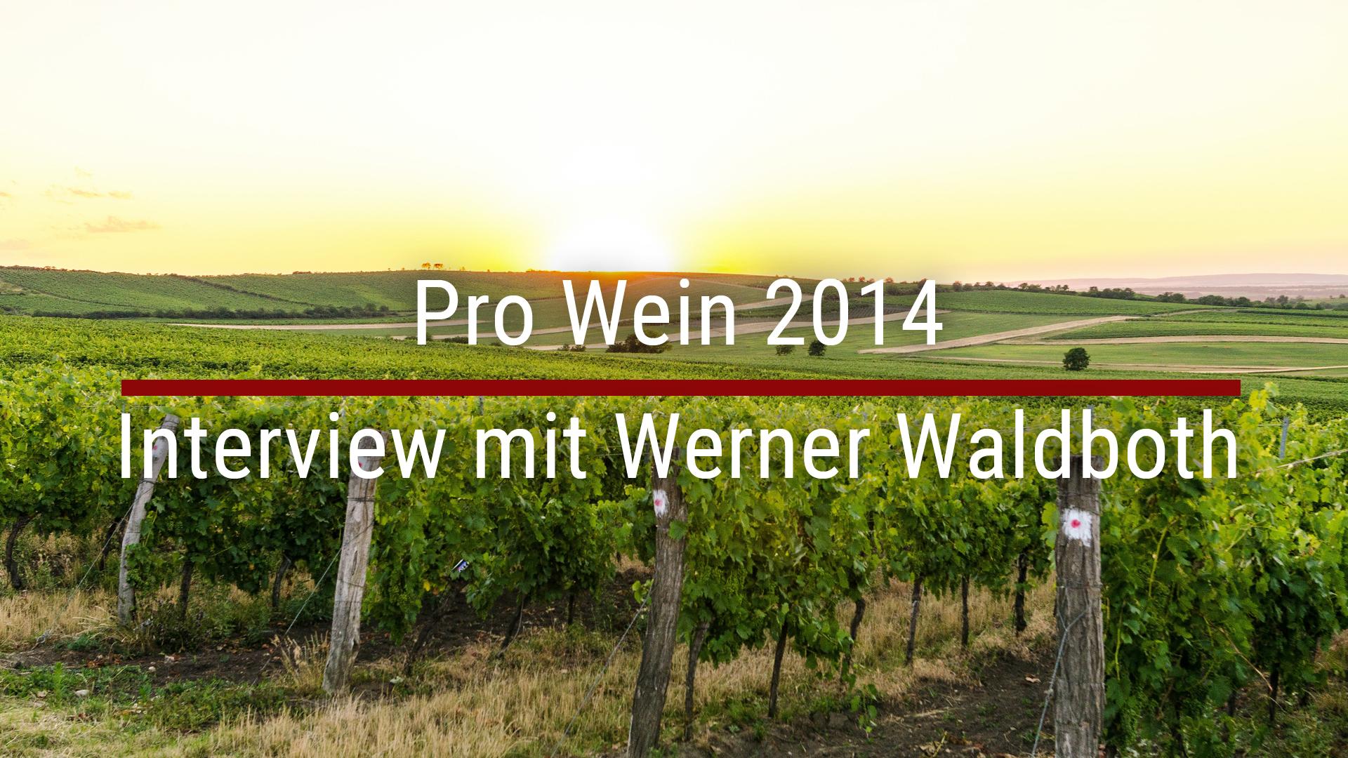 Pro Wein 2014 – Interview with Werner Waldboth
