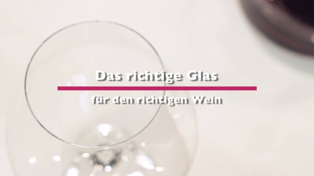 Selection guides for the right wine glass