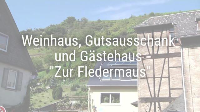 """Weinhaus – Gutsausschank und Gästehaus """"Zur Fledermaus"""""""