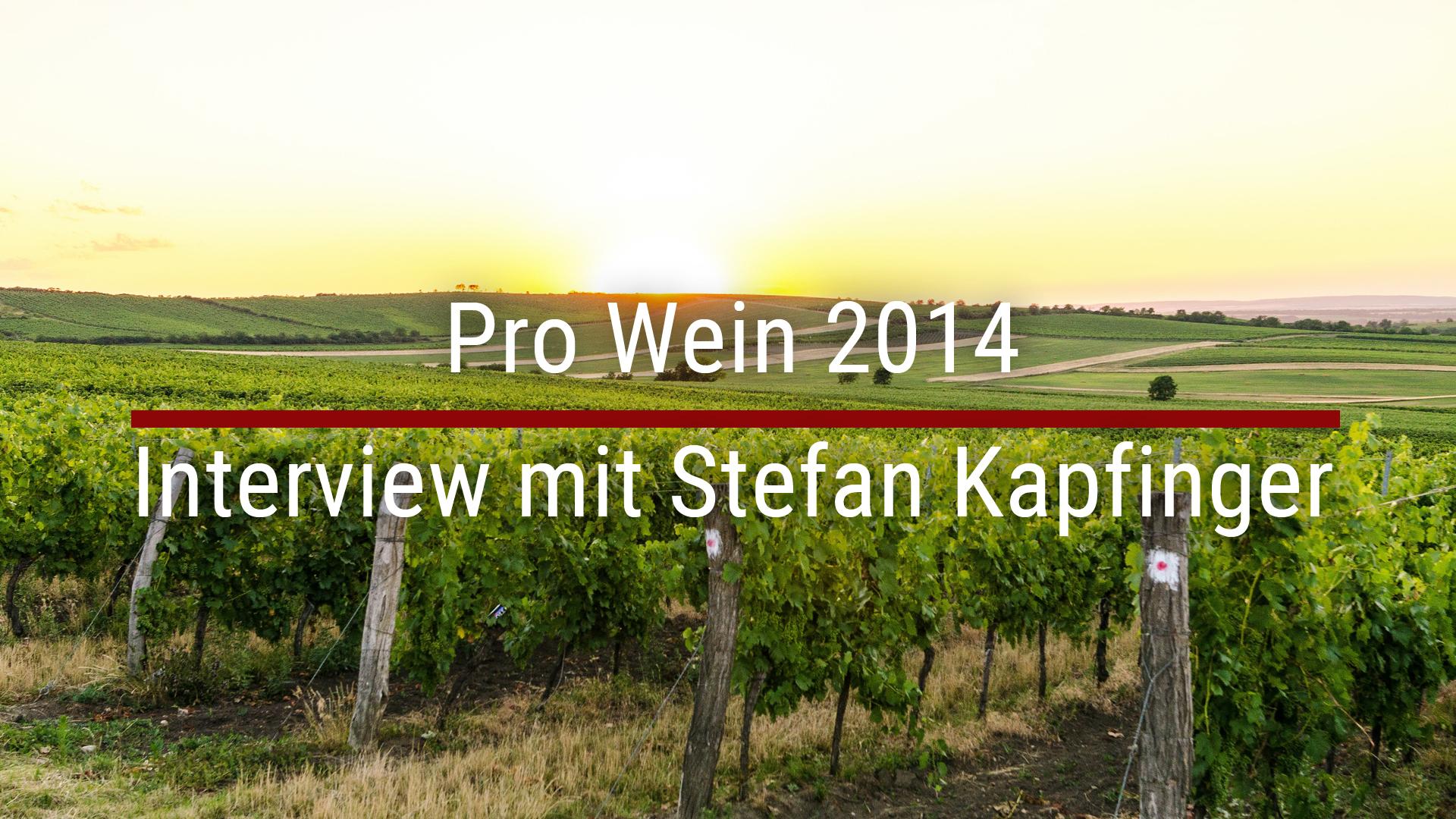 Pro Wein 2014 – Interview mit Stefan Kapfinger
