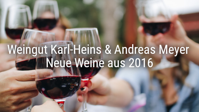 Weingut Karl-Heins & Andreas Meyer – Neue Weine aus 2016