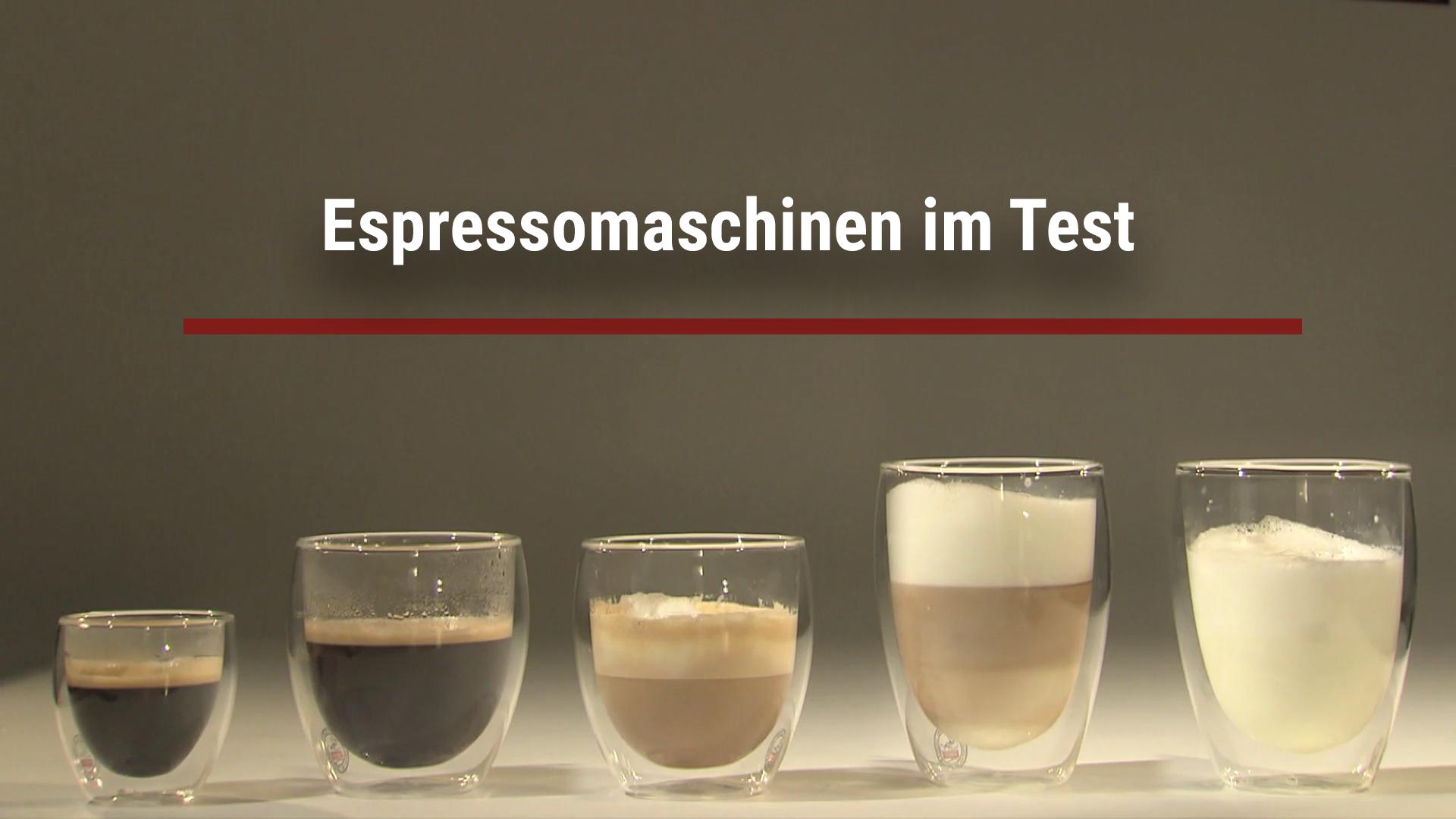 Espresso machines put to the test