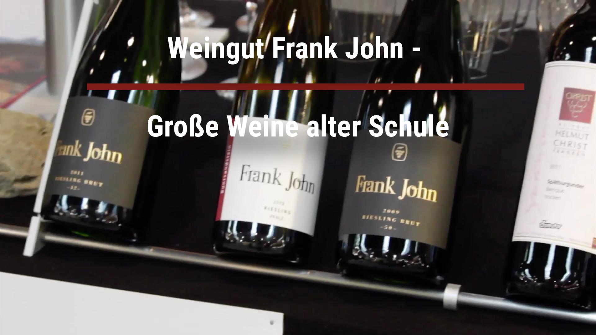 Frank John Winery – Great old school wines