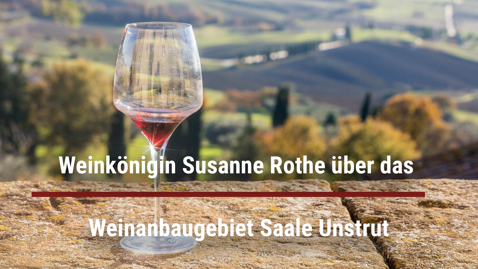 Wine queen Susanne Rothe on the Saale Unstrut wine-growing region