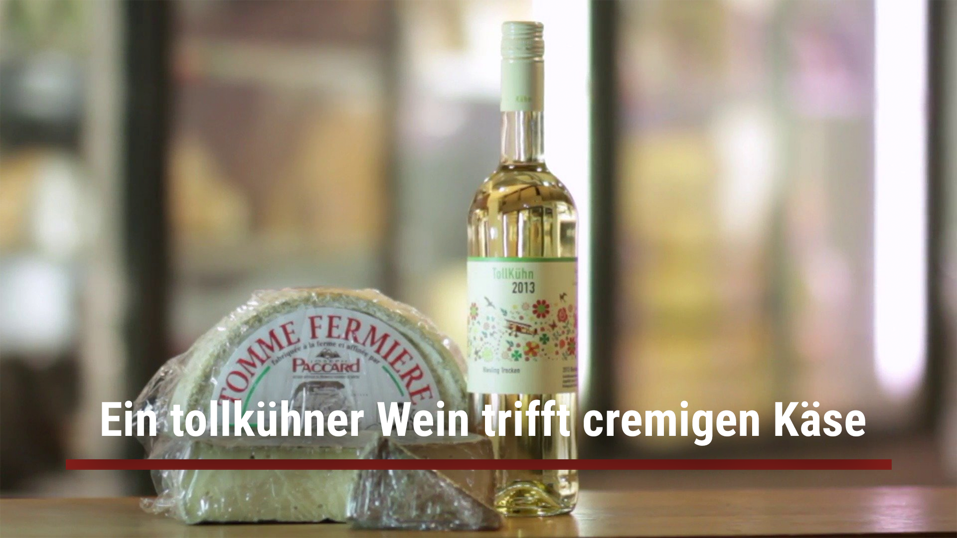 A daring wine meets creamy cheese