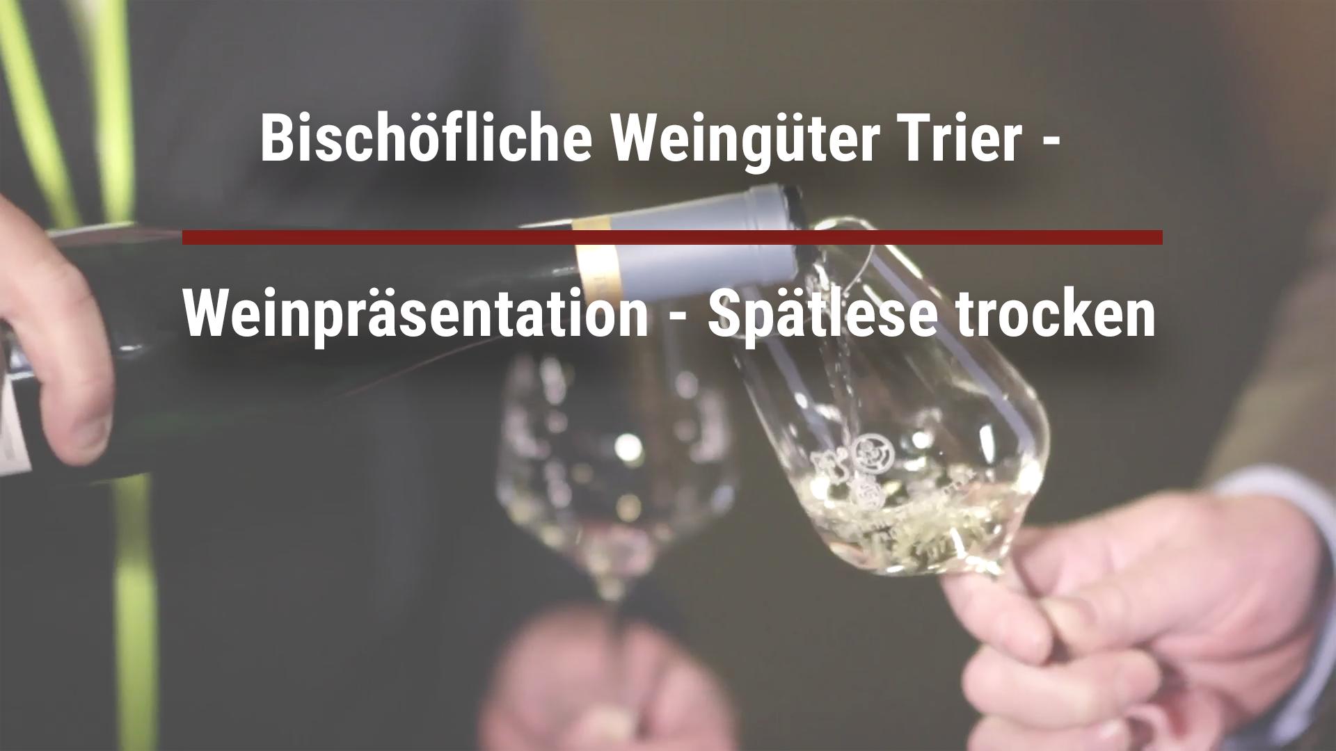 Bischöfliche Weingüter Trier – Weinpräsentation – Spätlese trocken