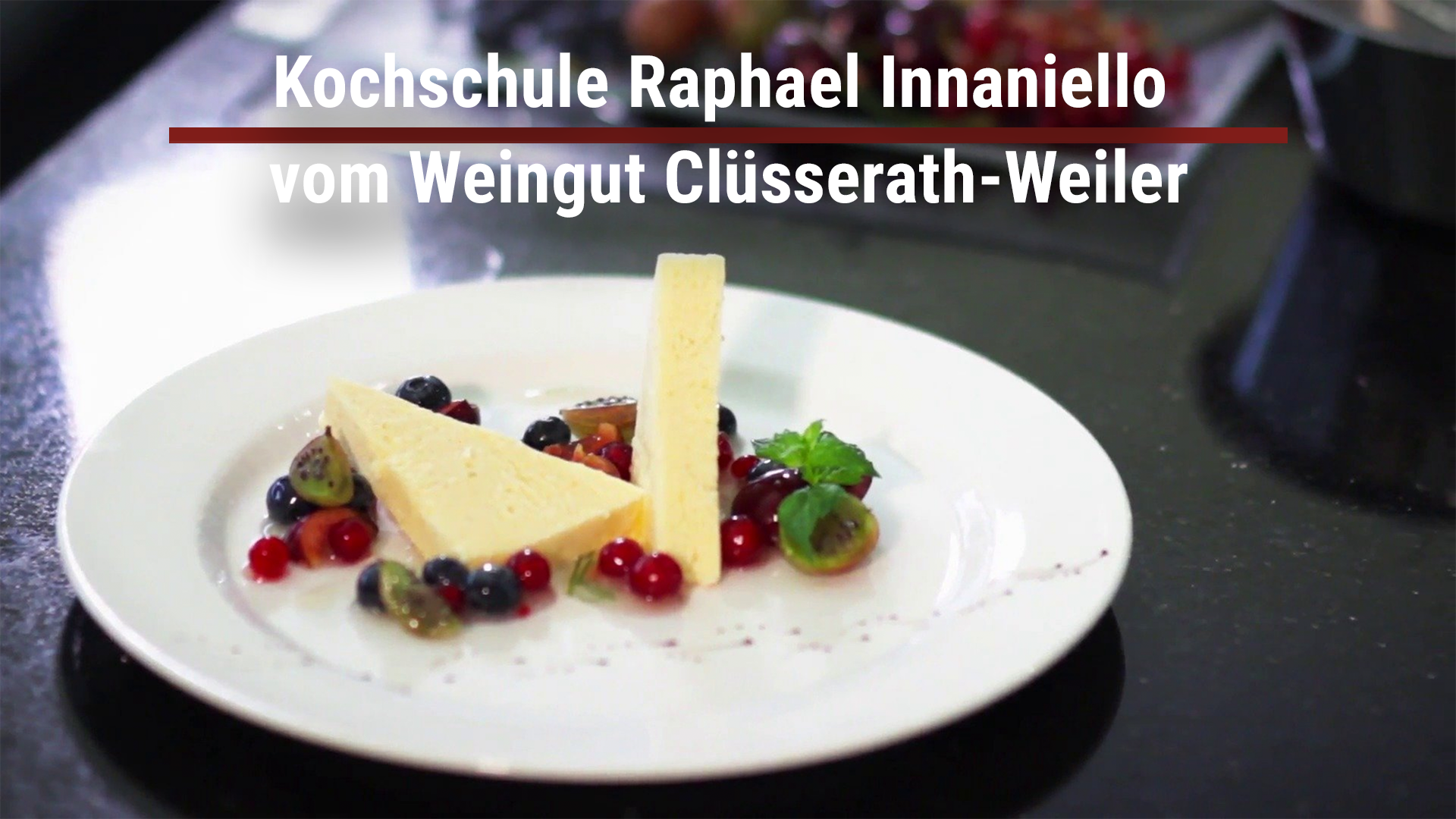 Cooking school Raphael Innaniello from the Clüsserath-Weiler winery