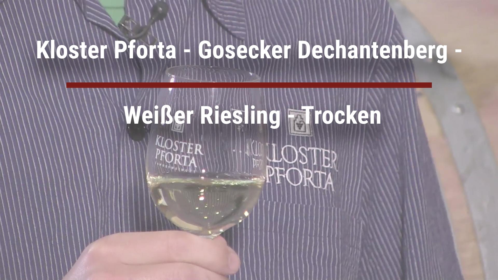 Pforta Monastery – Gosecker Dechantenberg – White Riesling – Dry