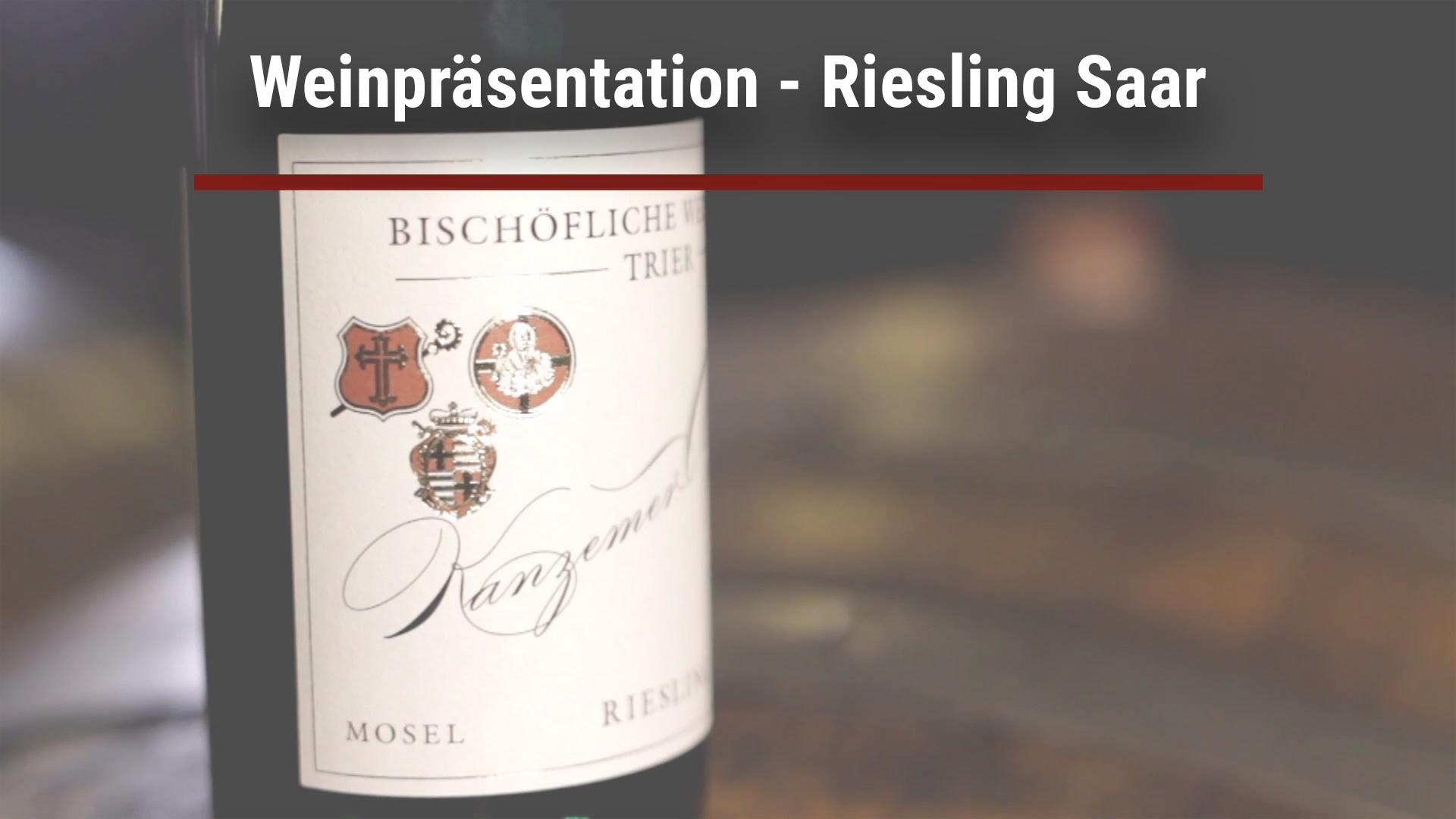 Wine presentation – Riesling Saar