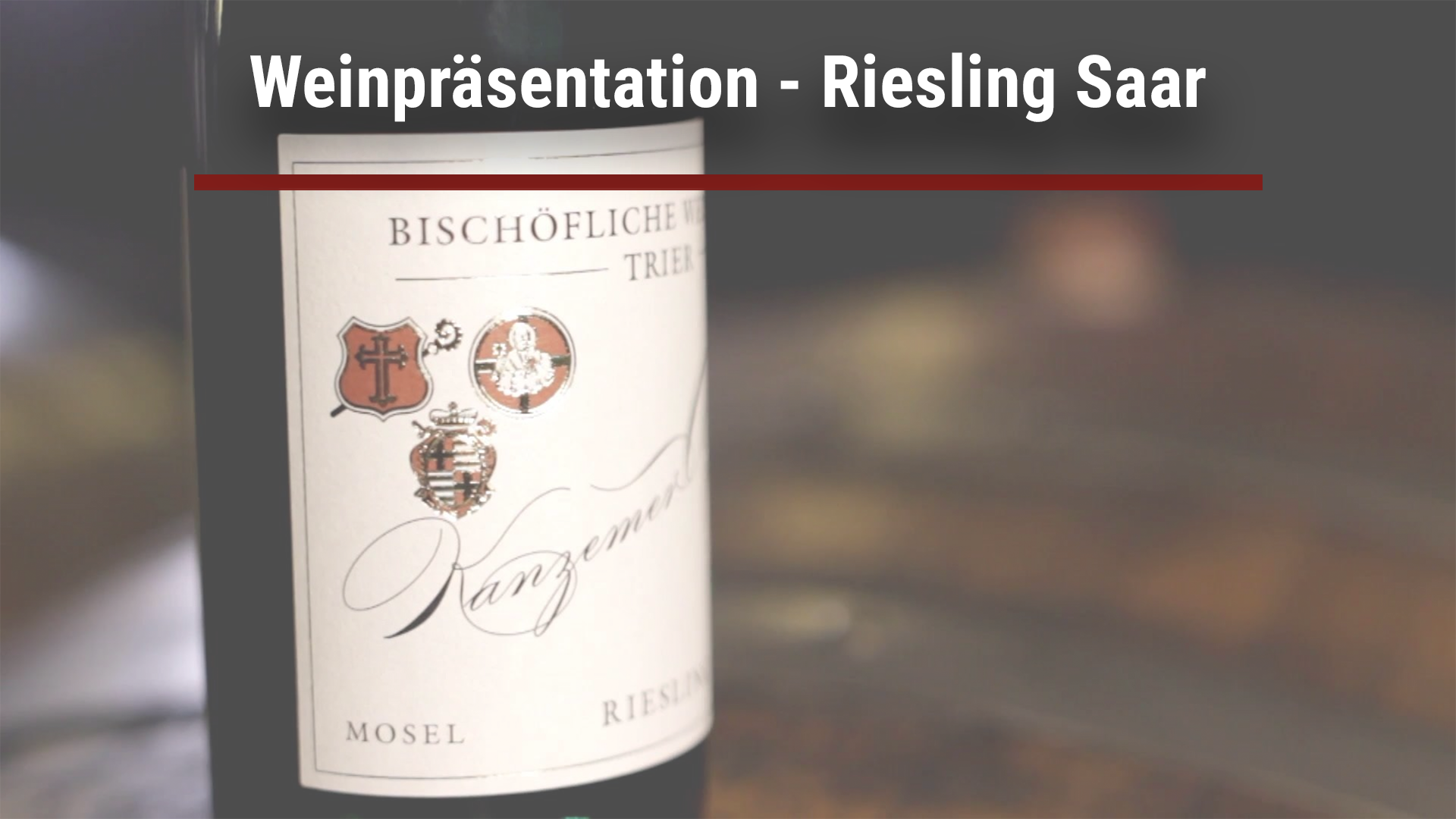 Weinpräsentation – Riesling Saar