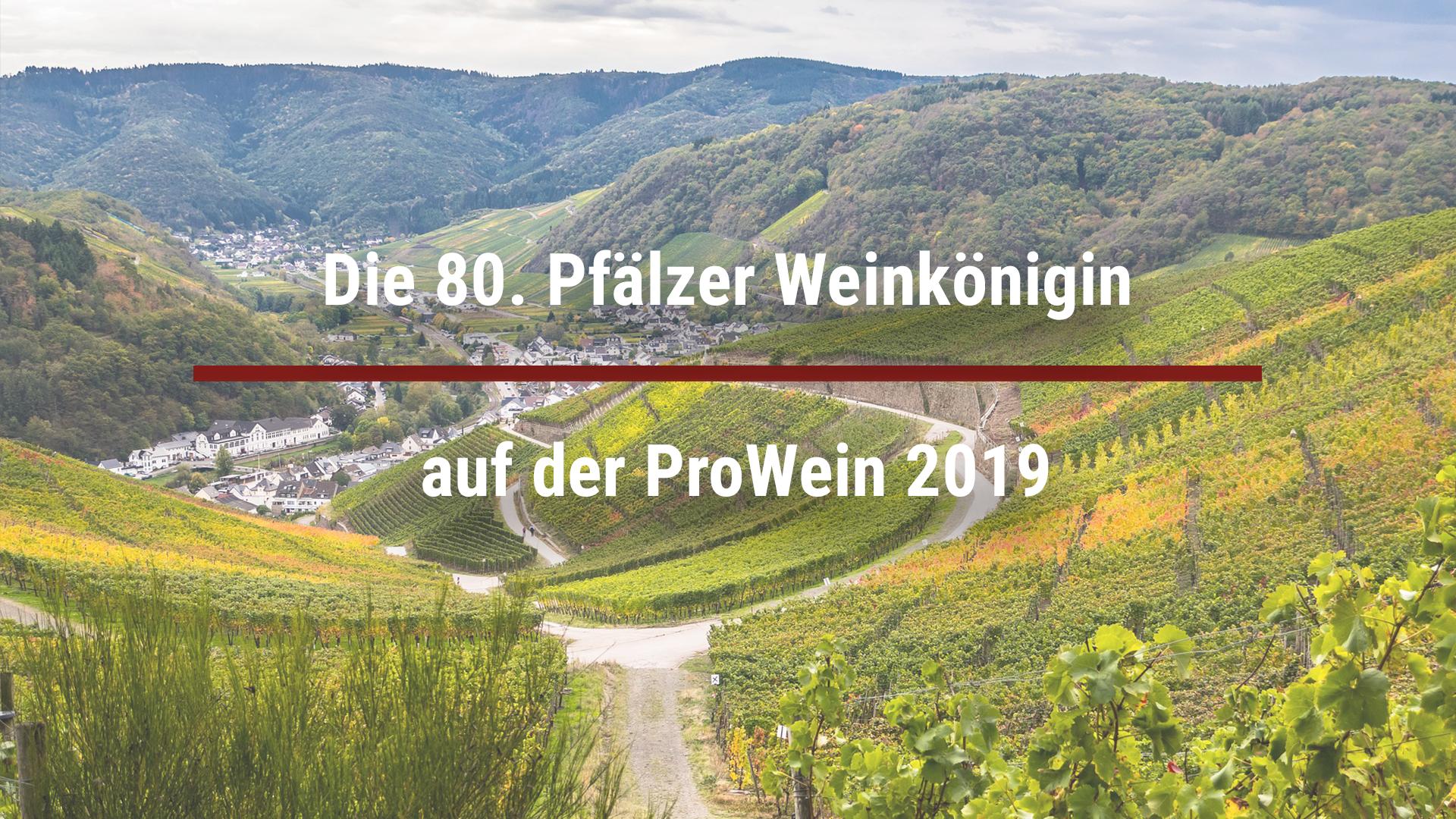 Die 80. Pfälzer Weinkönigin auf der ProWein 2019